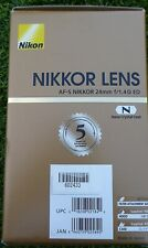 NIKON 2184 AF-S NIKKOR 24 mm f/1.4G ED Wide-angle Prime Lens MADE IN JAPAN