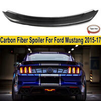 Carbon Fiber Rear Wing Spoiler For Ford Mustang 2015-19 GT350 Track Pack