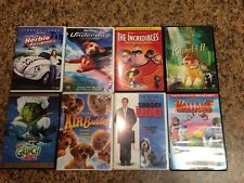 Lot of 8 Kids DVDs (7 DISNEY) Incredibles Bambi II Air Buddies Underdog Grinch