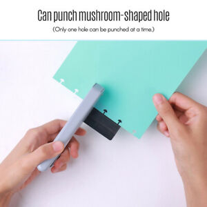 Mushroom Hole Notebook Puncher Scrapbooking Hole Puncher Manual Book Loose-l FT