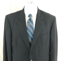 Brooks Brothers Makers Brooksease Men's 44R 2 Button Blue Wool Sport Coat Blazer