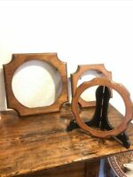 3 VINTAGE WOODEN FRAMES HOLLY ARTS WOODCRAFT