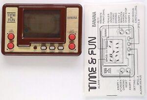 TIME & FUN BANANA - VTECH LCD vintage handheld - defekt / broken - incl. manual