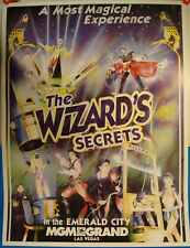 Poster-The Wizard's Secrets show-Emerald City-Mgm Grand Las Vegas-1994-Dm