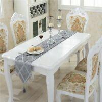 4 Color 2 Size Diamond Velvet Table Runner Luxury Fashion Bed Cover Stripe Cloth