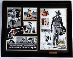 New John Wayne Signed Limited Edition Memorabilia Framed