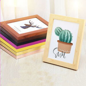 """Color 365"" Wooden Photo Picture Frame Beautiful Home Decor Tabletop Wood Frame"