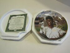 BRADFORD EXCHANGE SUPERSTARS OF BASEBALL TED SIZEMORE PLATE WILLIE MAYS SAY HEY