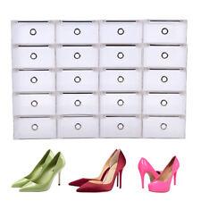 20 Plastique Empilable Boîte à Chaussures Housse Tiroir Stockage Rangement