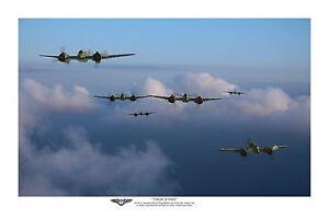 "WWII WW2 RAAF Bristol Beaufighter  Pacific Aviation Art Photo Print - 12"" X 18"""