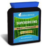 HerbalBioTech Supergreens Organic Barley Grass & WheatGrass Capsules Not Powder