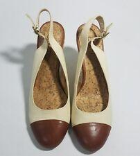 7b190219a NWOB Ann Taylor LOFT Tan Brown Espadrille Slingback Wedges Size 6.5