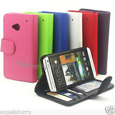 2 x Premium Credit Wallet Leather Flip Case Cover Pouch For HTC ONE M7 810e