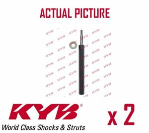 2 x FRONT AXLE SHOCK ABSORBERS PAIR STRUTS SHOCKERS KYB OE QUALITY 665063