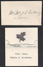 Uk Gb 1904 Clevedon To Milwaukee Wisconsin Capt Je Gallaway W/ Letter & Inserted