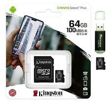 64GB micro SD SDXC Card 100MB/s Ultra 64G Class 10 UHS-1 A1 TF Memory Card 64 GB