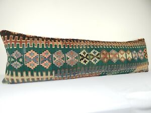 Patio Bench Garden Kilim Cushion Woven Wool Throw Pillow Bed Couch 18'' x 59''