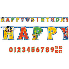 MICKEY MOUSE CLUBHOUSE Jumbo Banner + Add An Age Letter Birthday Decoration