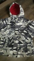 Boy's Medium used Cherokee hooded winter coat snow camouflage pattern