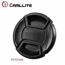 Front Lens Cap Center Snap Lens Caps Replacement For Dslr Camera Plastic 49-77mm