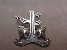 Victorian Taxco 980 Silver Cactus brooch pin