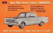 Old Print.  1964 Ford Falcon Futura Ranchero Auto Advertisement