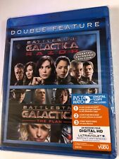 New BATTLESTAR GALACTICA Double Feature Blu-Ray RAZOR Uncut & THE PLAN Sealed