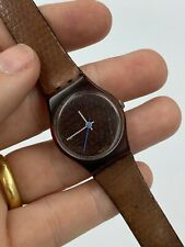 Swatch Standard watch Ladies Brown - tested and working - 1987