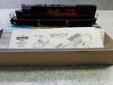 Athearn Ho Scale SD40-T2 Rio Grande powered locomotive