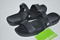 NWT NEW CROCS CORETTA CLEO BLACK sandals slides shoe 6 7 8 9 10 11 women's