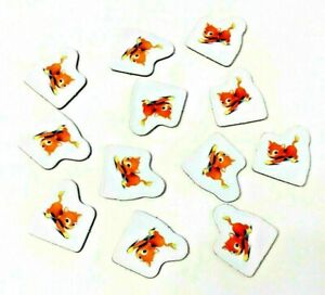 Replacement Pieces MONOPOLY JR - 12 ORANGE CAT Character Sold Sign Markers