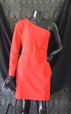 Bebe Kassandra One Shoulder Mesh Inset Dress Red Size Medium New With Tag