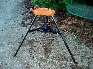 "RIDGID No 450 Tristand 1/8 to 5"" Portable Chain Pipe Threading Vise Tripod Stand"
