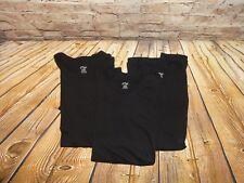 Black Solid T Tee Shirt Size Large L Cotton Men's Cotton Lot Set of 3