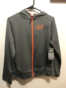 Russell Athletic Boy's Size XL(14-16) Grey or Black Full-Zip Hoodie NEW