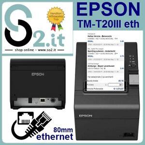 EPSON TM-T20III ETHERNET STAMPANTE TERMICA PER SCOMMESSE COMANDE SCONTRINI