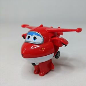 Super Wings Jet Airplane Transformable Robot Red Action Figure Toy Animation