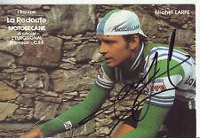 carte cycliste MICHEL LARPE équipe LA REDOUTE MOTOBECANE 1982 signée