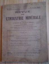 REVUE DE L'INDUSTRIE MINÉRALE N° 158 (1927)/ MINE/compresseurs/ GRÈVES DE 1926