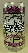 Coke Glass Tumbler Coca Cola Stained Glass Design Mac's Family Restaurant Libbey