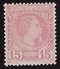 MONACO 1885 - 15 c. n. 5 INTEGRO € 1000