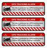 3er Set GPS Motorrad Alu Schliff Aufkleber Folie Diebstahlschutz Alarm R056