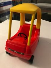Vintage Little Tikes Dollhouse Doll Cozy Coupe Red Yellow & Black Toy Car