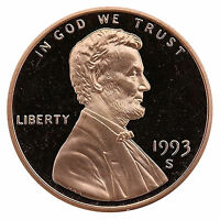 1993-S Lincoln Memorial Cent Penny Gem Proof US Mint Coin Uncirculated UNC