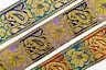 "By The Yard 1.96"" (05 CM) Wide Floral Fringe Jacquard Ribbon Braid Trim T618"