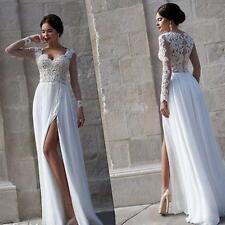 New Lace White ivory Bridal Gown wedding dress custom size 4 6 8 10 12 14 16 18+