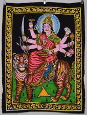 Indian Hindu Goddess Durga Sequinned Wall Hanging * Fair Trade * Small