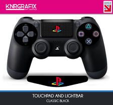 KNR9781 NEW BLACK Dualshock 4 PS COLOUR Lightbar Decal + Touchpad Decal Classic
