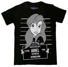Twisted Ariel Little Mermaid Mugshot T-shirt Tattoo Tank Alternative Emo Punk L