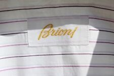 Brioni 16.5/34 Gent's Violet & White Striped French Cuff Shirt - Italy - $575.00